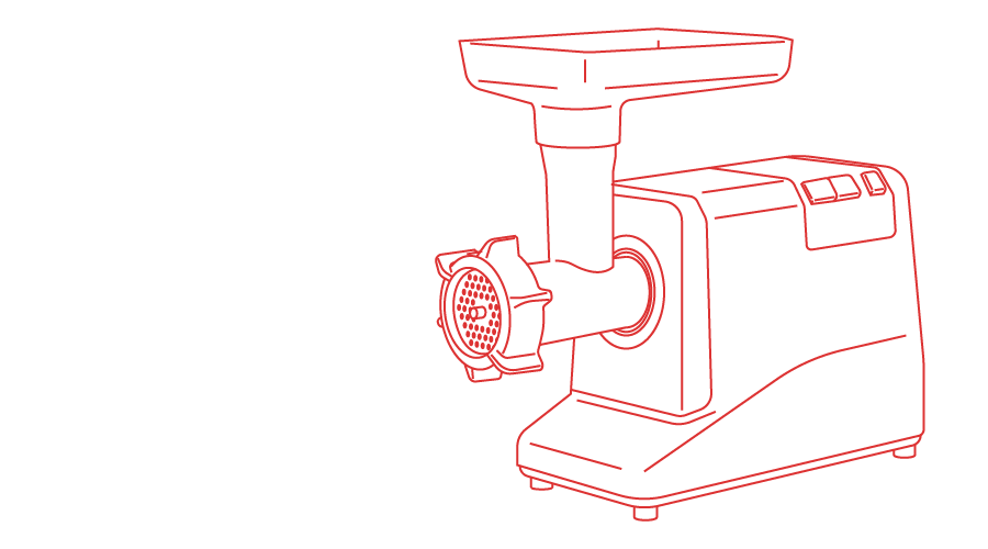 illustration of a meat grinder